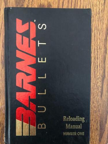 1992  BARNES BULLETS RELOADING MANUAL NUMBER ONE