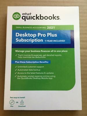 Intuit QuickBooks Desktop Pro Plus 2021 Windows 1Year Subscription CD & Download