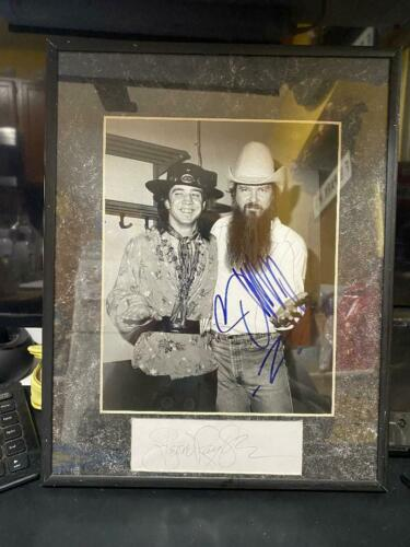 Autograph Picture Stevie Ray Vaughan & Billy Gibbons With COA