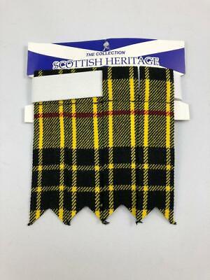 Kilt Macleod Dress Flashes Wool Scottish Heritage Scotland