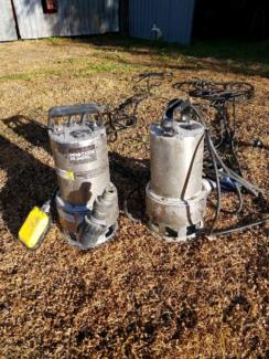 2 x submersible pumps