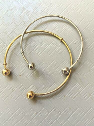 Gold & Silver Tone Bangle Bracelets  Stainless Steel Jewelry Making