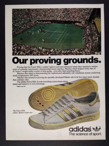 1979 Adidas Forest Hills Tennis Shoes vintage print Ad