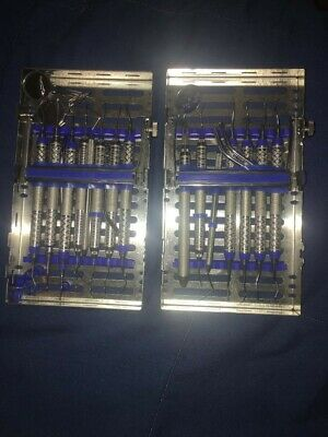 Dental Hygiene Instruments 2 Hu-friedy Cassettes Typodont Excellent Condition