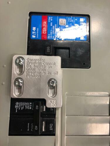 Generator Interlock Kit , Eaton / Cutler Hammer Br  150 amp and 200 amp panels