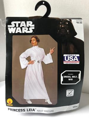 Stars In Halloween Costumes (Star Wars Deluxe Princess Leia Costume Adult One Size New In)