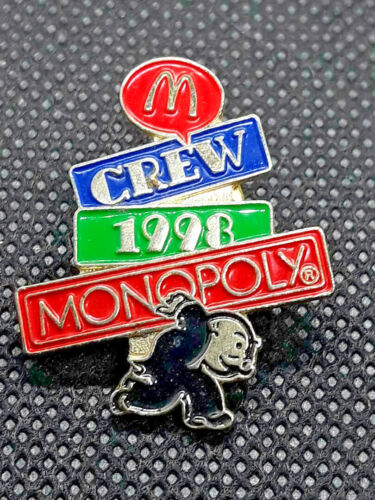 Vintage McDonalds Crew 1998 Monopoly Pin Uncle Pennybags ~ Ships FREE