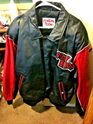 NEW BETTY BOOP Red/Black by Montana Toons Leather Coat & Full Leather Applique