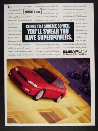 1997 Subaru 2.5 GT Sedan vintage print Ad