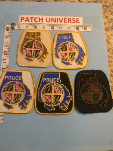 LOT OF 5 DIFF  BALTIMORE COUNTY  MD   SHOULDER PATCHES  G006