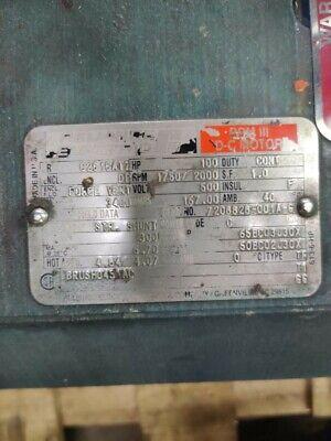 Reliance Dc Motor 100 Hp C2515atz Frame 500 Vdc