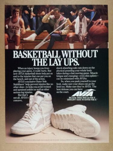 1985 AVIA Hi-Top Basketball Shoes vintage print Ad