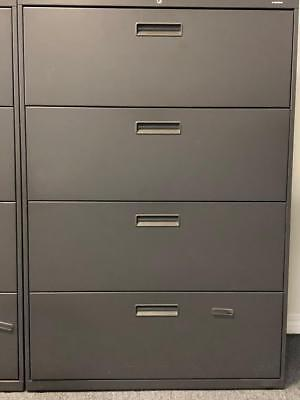 Hon Company 684lp 600 Series Four-drawer Lateral File- 36w X19-14d