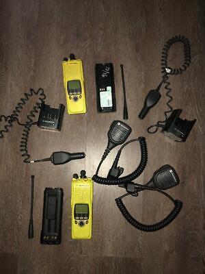 Lot Of 2 Motorola Xts 5000r H18ucf9pw6an Rugged Smartzone Fire Radios Yellow