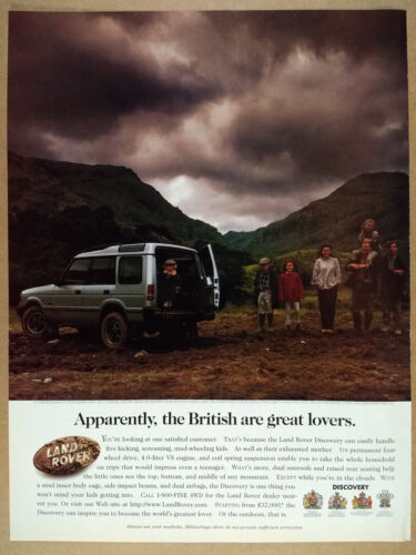 1997 Land Rover Discovery parents kids photo vintage print Ad