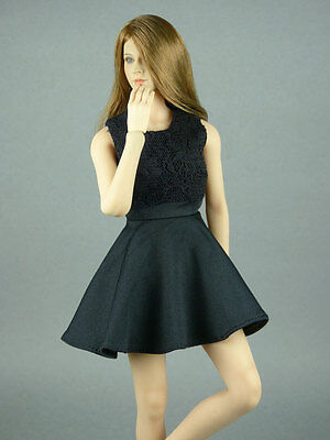 1 6 Phicen  Hot Toys  Kumik  Cy  Zc   Nt Clothing   Female Black Party Dress