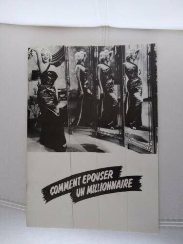 MARILYN MONROE Movie booklet who wants to marry a millionaire *rare* France 1954