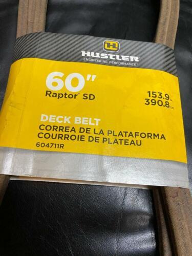 """HUSTLER GENUINE OEM 60"""" Raptor SD BIG DOG ALPHA MP Deck Belt 604711 / 604711R"""