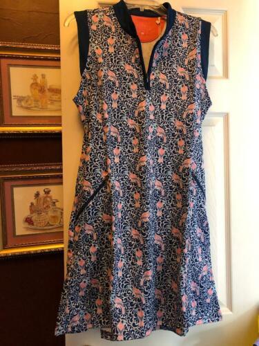 NWT Ladies Bermuda Sands Navy & Pink Sleeveless Golf Tennis Dress S M L & XL