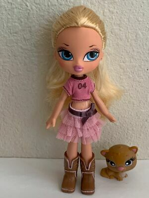 Girlz Girl Bratz Kidz Kid Cloe Doll 7 in Blonde Hair Blue Eyes Clothes Boots Pet