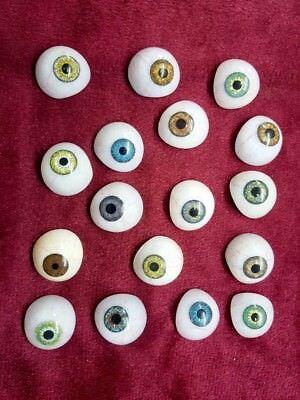 Antique Artificial Vintage Eyes Set Of 25 X Limitied Quantity - Mix Colours