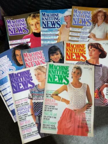 Machine Knitting News 1988 (8 issues) Feb-Sept, Vintage Magazines