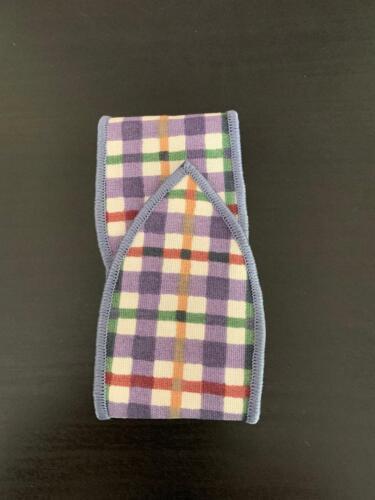 Longaberger Blueberry Plaid Handle Tie On