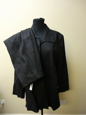 PURSUITS LTD. NWT Black Solid Lined Pant Suit Size Jacket:16 Pant:14 HH4047