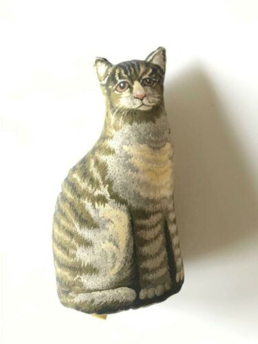"""The Toy Works 7"""" TABBY KITTEN Cat Plush FABRIC TOY  VINTAGE"""