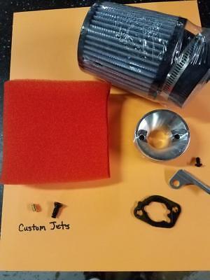 Predator 212cc Race Filter Kit w/ Custom Jets (Both Engines) Honda Clones