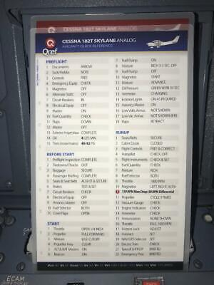 CESSNA 172S SKYHAWK SP QUICK REFERENCE CHECKLISTS by QREF 2 Card Set