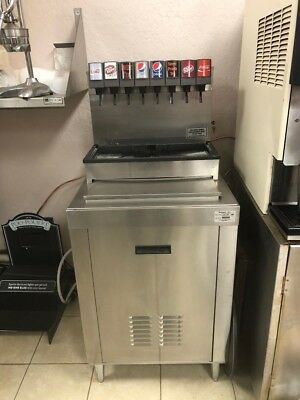 Soda Fountain Dispenser 8 Flavor Pepsi Or Coke With New Cabinet