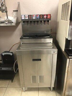 Soda Fountain Dispenser 8 Flavor Pepsi Or Coke With New Cabinet
