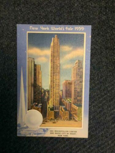 1939 Worlds Fair Post Card # 130 Rockefeller Center