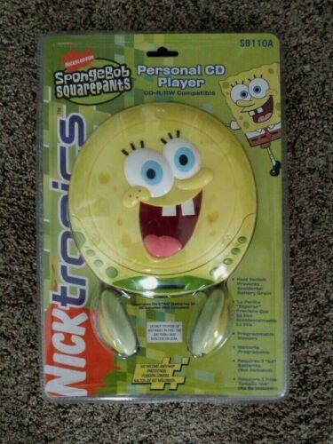 *RARE *  SpongeBob Squarepants Personal CD Player NIP NEW 2005 Vintage