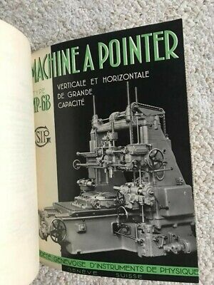 Sip Mp-6b Jig Boring Machine Technical Instructions Manual In French