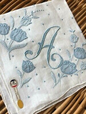 Vintage Monogrammed Linen Hankie