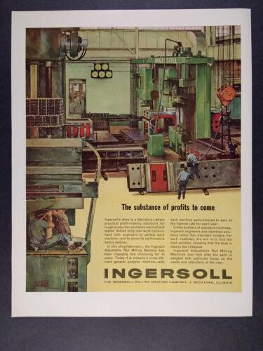 1963 Ingersoll Adjustable Rail Milling Machine vintage print Ad