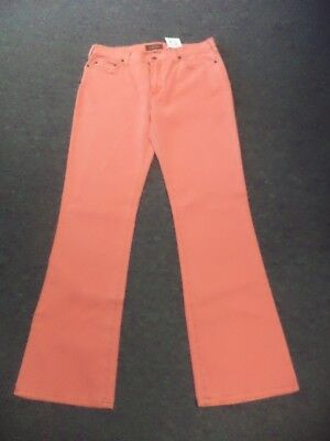 BELLA DAHL Pink Solid Cotton Blend Stretch Casual Bootcut Jeans Size 29 GG2390 Bella Cotton Jeans