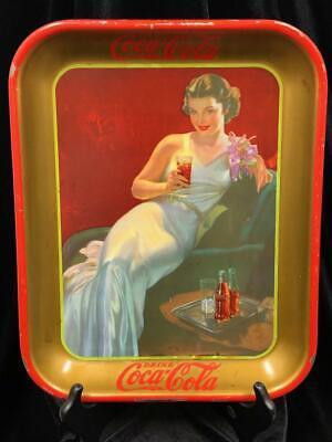 VINTAGE ORIGINAL 1936 COCA-COLA GOLDEN ANNIVERSARY SERVING TRAY GOOD CONDITION