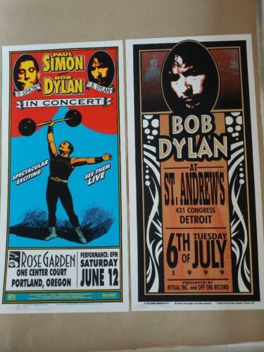 Dylan 99 Tour Posters Arminski Portland & Detroit **RARE**