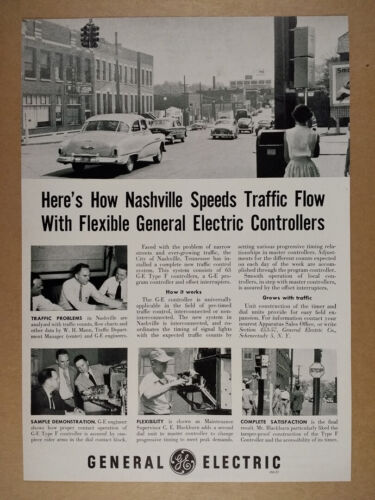 1952 GE General Electric Traffic Controllers Nashville TN Use vintage print Ad