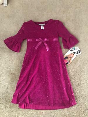 Sweet Heart Rose Baby Doll Dress for Girls (2-Piece Set)-Fuschia-Size 16 New/NWT](Sweet Dresses For Girls)