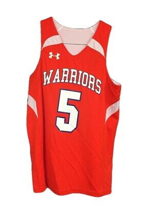 535d71d2c NWT Under Youth Armour Reversible Warriors Basketball Jersey SZ Youth Medium