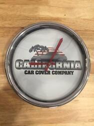 California Car Cover Company Clock 11-1/2 Metal Geneva Clock
