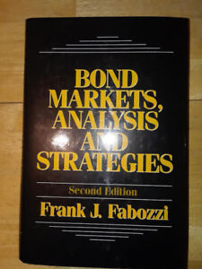 Bond Markets, Analysis and Strategies by Frank J. Fabozzi (2nd Edition)