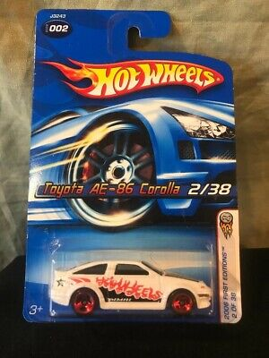 Rare! 1/64 Hot Wheels 06 1st Edition Toyota AE-86 Corolla Wheel Variation READ!!