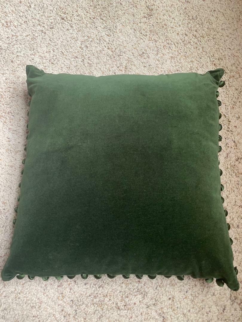 Ann Gish Olive Green 100% Velvet 18 Bedding