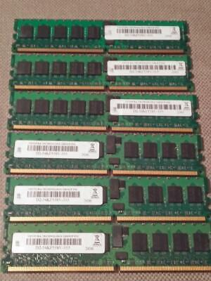 Ventura 1GB PC2-3200 DDR2-400MHz ECC Reg CL3 240-Pin DIMM Dual Rank ~ 6 units