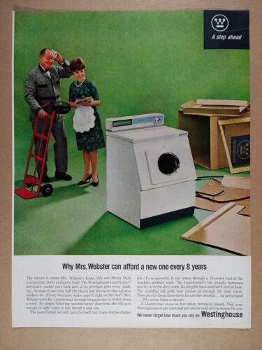 1963 Westinghouse Laundromat Washing Machine vintage print Ad